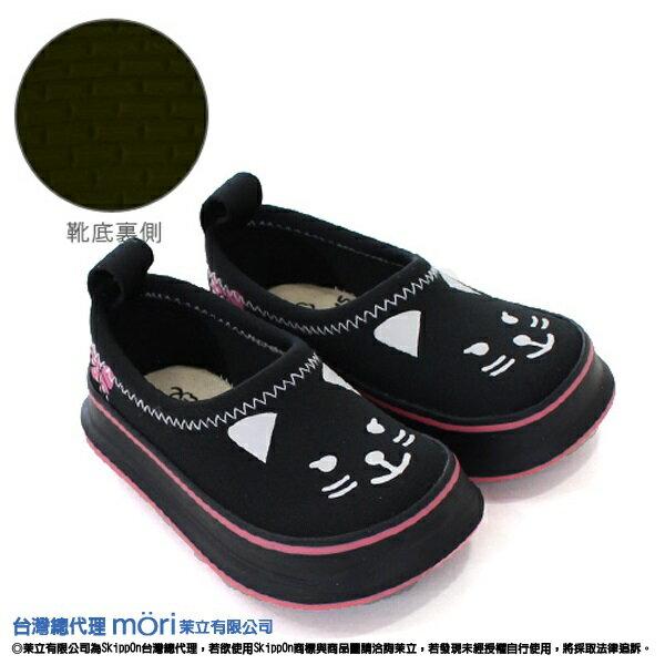 日本熱賣SkippOn幼兒戶外機能鞋-黑色貓咪