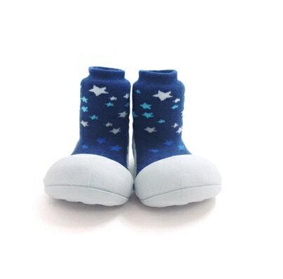 【本月特價$599】韓國【Attipas】快樂腳襪型學步鞋-白底星空 0