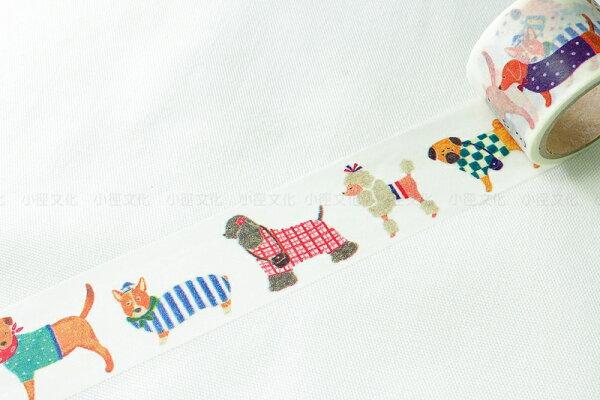 *小徑文化*日本進口 Aimez le style 2014ss 和紙膠帶 - Dog ( JAN 2624 )