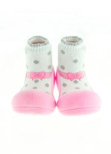 【本月特價$599】韓國【Attipas】快樂腳襪型學步鞋-芭蕾粉紅 0