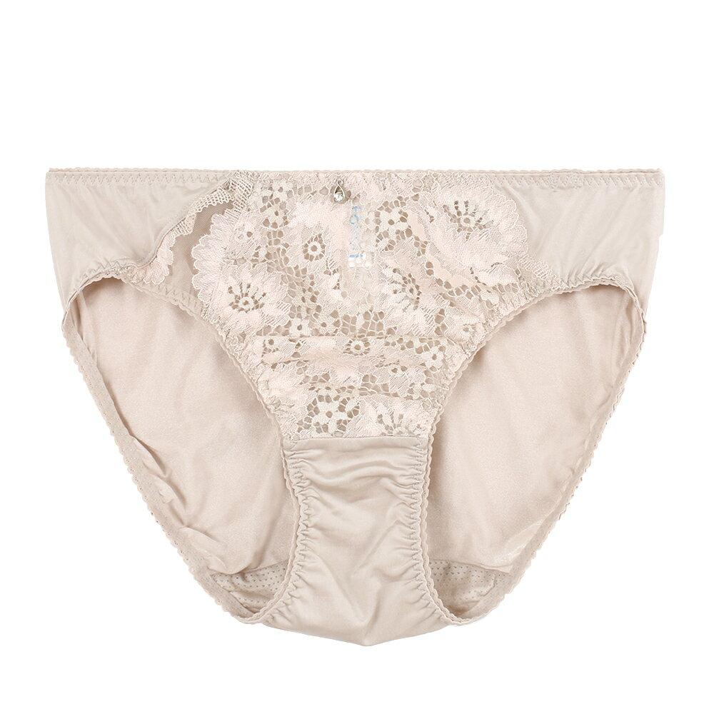 【Favori】冰絲 花語冰沁三角褲 (裸) 0