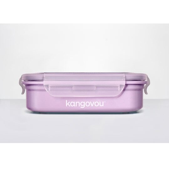 美國【Kangovou】小袋鼠不鏽鋼安全餐盒(紫丁香) 1