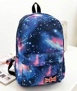 【星空後背包】 韓版流行後背包 學院風旅行包 書包  時尚玩包