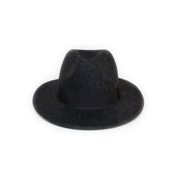 MONEY HAT 2016秋冬款 毛呢寬簷紳士帽 黑色
