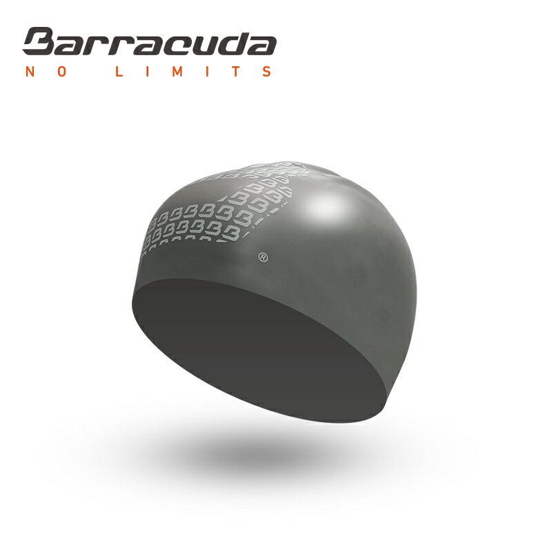 美國巴洛酷達Barracuda成人矽膠3D泳帽-銀 - 限時優惠好康折扣