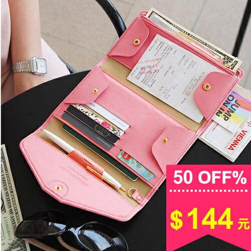 皮夾-韓版多功能氣質長款錢包 男女優雅皮質手機包錢夾護照包 包飾衣院 A1074 現貨+預購