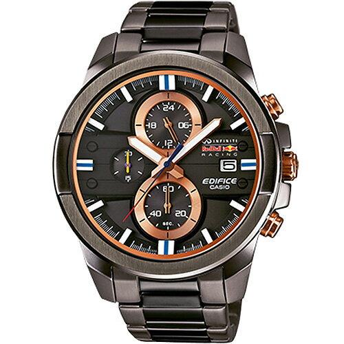 CASIO EDIFICE EFR-543RBM-1A紅牛立體三環計時腕錶/鐵灰面46.6mm