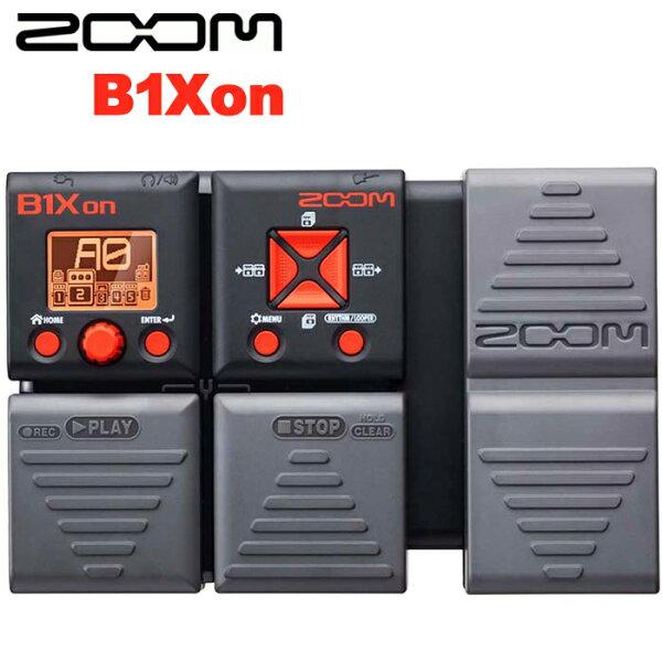 【非凡樂器】ZOOM 電貝斯綜合效果器 B1Xon 內建踏板/節奏機/原廠公司貨/贈導線.整流器