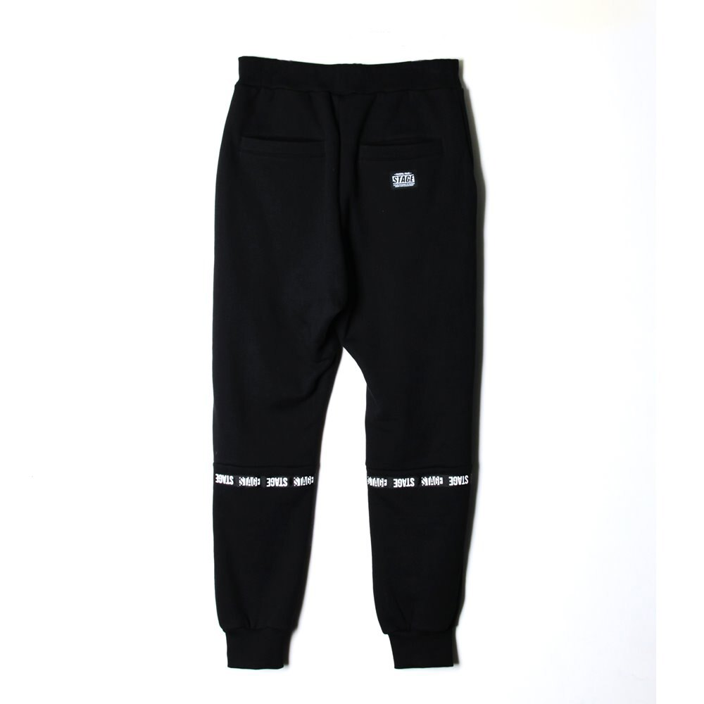 STAGE  TAPES SWEATPANTS  黑色 1