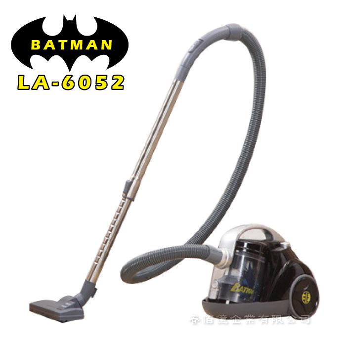《BATMAN》蝙蝠俠 氣旋式真空吸塵器-LA-6052(1台)蜂槽式旋風吸塵器 HEPA過濾 靜音 除塵 華納授權 - 限時優惠好康折扣