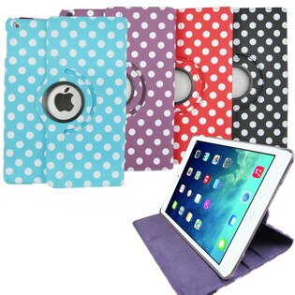 M35波點旋轉款iPad mini 3/2/1保護皮套(加贈螢幕保護貼)