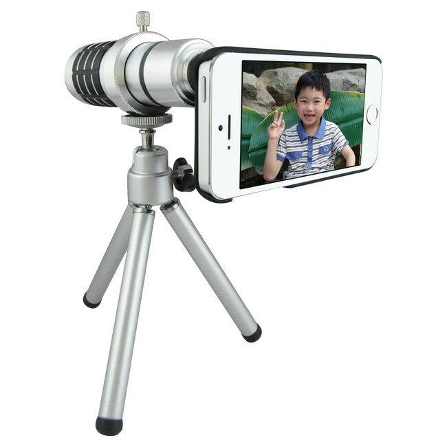 TS2銀砲管 iphone5S/5專用型 望遠鏡頭組(16倍光學變焦)