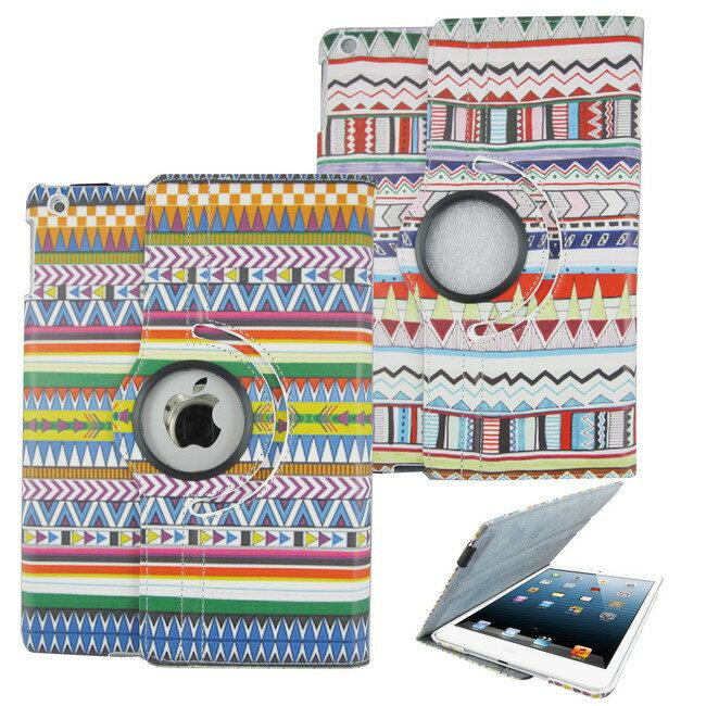 L73部落紋旋轉iPad Air(iPad5)平板皮套(加贈螢幕保護貼)(顏色隨機出貨)