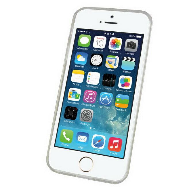 J21透明款iphone5S 5手機清水套^(加贈螢幕保護貼^)