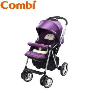 【本月贈市價$1980濕紙巾保溫器】日本【Combi】Mega Ride DX 嬰兒手推車-紫(1~48個月)(預購11月中到貨) 1