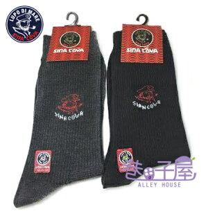 【巷子屋】SINA COVA老船長 經典圖半統襪 紳士襪 襪子 2色 MIT台灣製造 超值價$20