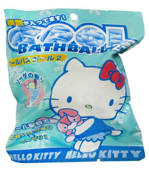 【買10送1可混搭】SANTAN Hello Kitty 夏日清涼沐浴球 入浴球 82g 趣味浴玩 *夏日微風*