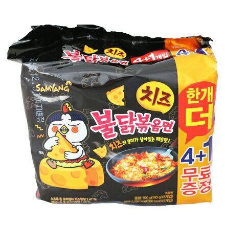 [敵富朗超市]三養辣炒起司雞肉鐵板麵(140gx5入) - 限時優惠好康折扣