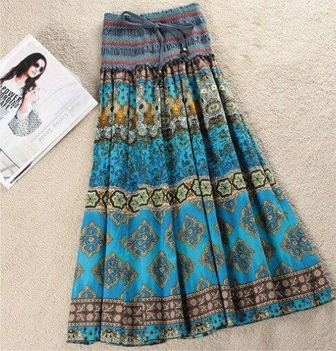 波西米亞亞麻洋裝 / 長裙 (可兩穿)【27103】藍色巴黎 《 5色》現貨+預購 4