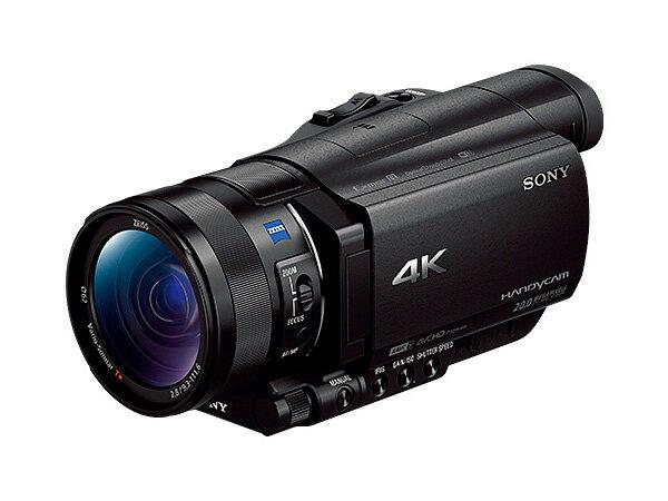 【新博攝影】Sony FDR-AX100 4K高畫質數位攝影機 (分期0利率;台灣索尼公司貨;送原廠NP-FV100電池、副廠座充)