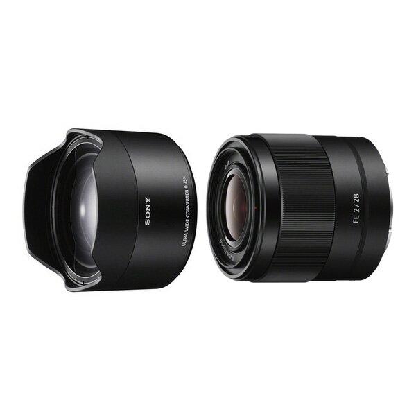 【新博攝影】 Sony FE 28mm F2.0 + SEL075UWC 廣角鏡頭組合 (分期0利率;台灣索尼公司貨)