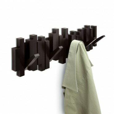 PERCHERO de pared STICKS de Umbra 5 PERCHAS retraibles - Color - Espresso-Wengue 0