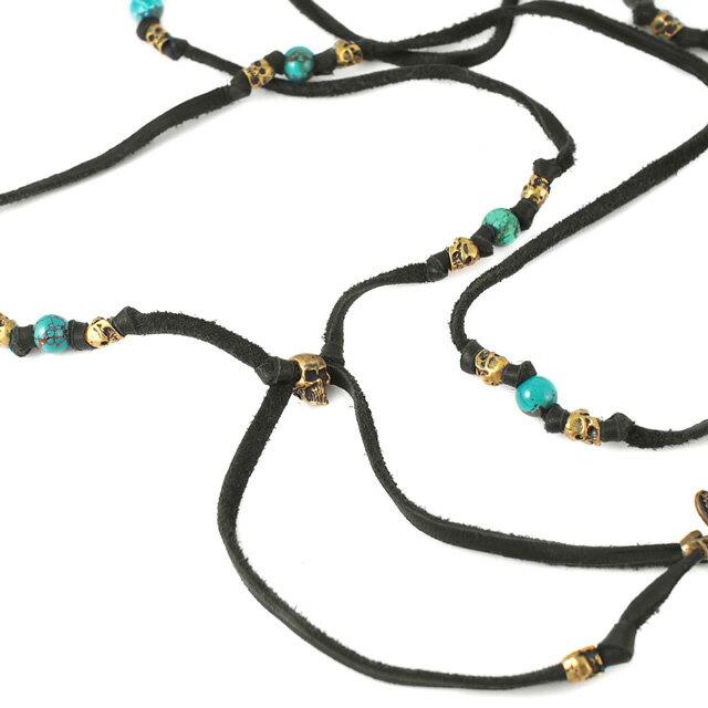 【現貨商品】【M.Cohen】多圈式骷髏綠松石皮革手環(MC-B-10102-B-Black  0631220004) 1