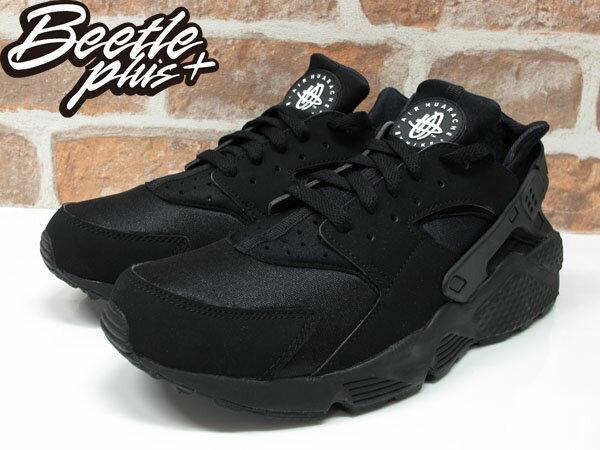BEETLE PLUS 西門町經銷 全新 NIKE AIR HUARACHE BLACK 全黑 黑武士 忍者鞋 男鞋 318429-003 D-136 1