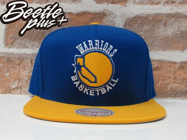 BEETLE PLUS MITCHELL&NESS NBA WARRIORS 美國職籃 金州 勇士 文字 CURRY 柯瑞 藍黃 SNAPBACK 帽 舊金山 LOGO 後扣 棒球帽 0