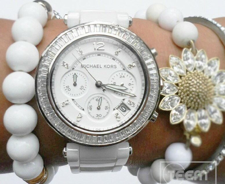 美國Outlet正品代購 MichaelKors MK 陶瓷 水鑽 三環 手錶 腕錶 MK5848 5