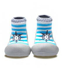 【本月特價$599】韓國【Attipas】快樂腳襪型學步鞋-水手淺藍 - 限時優惠好康折扣