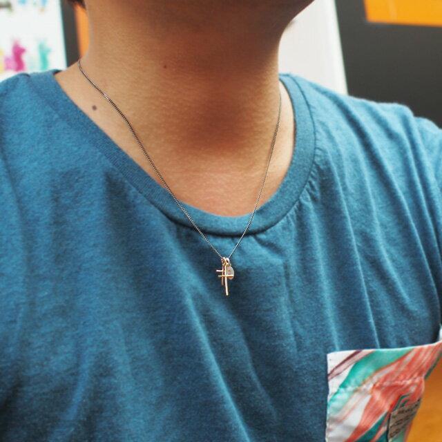 【海外訂購】【amp japan】簡約雙十字架純銀項鍊 (AMP-11AD-895 0567040000) 3