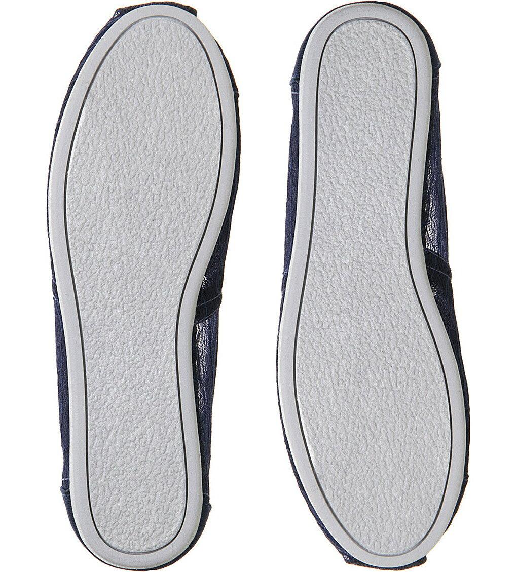 【TOMS】深藍色新款蕾絲平底休閒鞋  Navy Lace Women's Classics 7