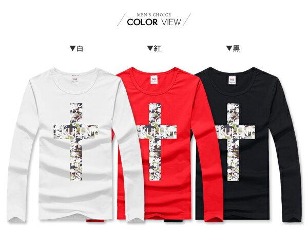 ☆BOY-2☆【JN7349】十字迷彩印花長T恤 2