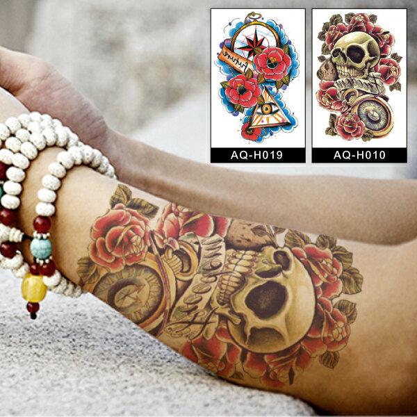 PS Mall 韓版手臂大圖紋身貼紙 刺青貼紙 【J713】Tattoo
