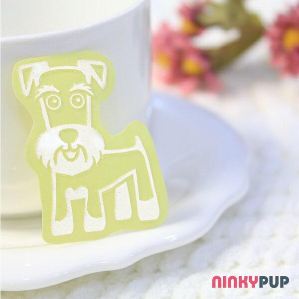 [寵物貼紙] 反光貼紙  萌犬雪納瑞 4.3*3.2cm