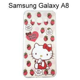 Hello Kitty 透明軟殼 [草莓] Samsung A800YZ Galaxy A8【三麗鷗正版授權】