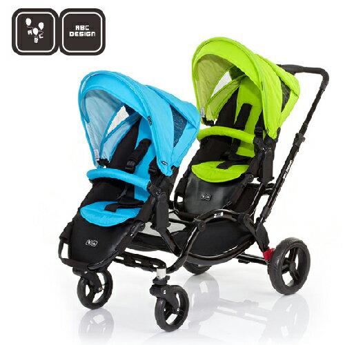 【好禮五選二】德國【ABC Design】ZOOM 嬰兒雙人推車(天空藍綠)(蚊帳/雨罩-11月寄出) 1