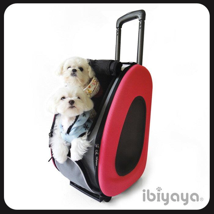 IBIYAYA依比呀呀~五彩繽紛寵物拉桿後背包~FC1008~^~寵物提包 寵物側背包 高