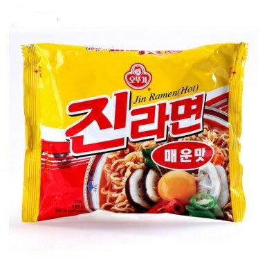 有樂町進口食品  韓國不倒翁(OTTOGI)金拉麵 辣味 8801045520124 1