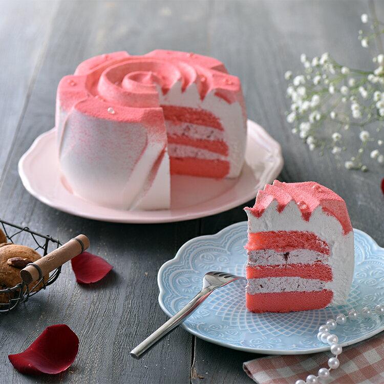 玫瑰傳情草莓蛋糕(6吋)★免運★蘋果日報 母親節蛋糕【布里王子】需五天前預訂 2