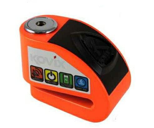 《育誠科技》『KOVIX KD6 橘色』警報碟煞鎖/CR2電池/送原廠收納袋+提醒繩/6mm鎖心/一般車通用款/另售鋼甲武士機車大鎖