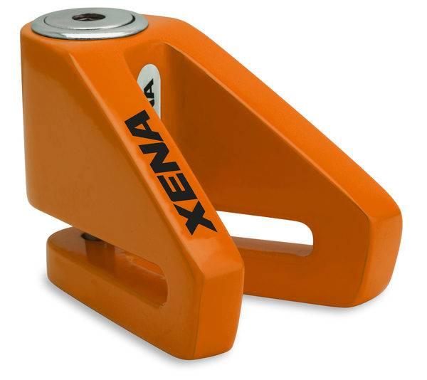 《育誠科技》『XENA X1 橘色』碟煞鎖/送收納袋/5mm鎖心/一般車通用款/另售鋼甲武士機車大鎖
