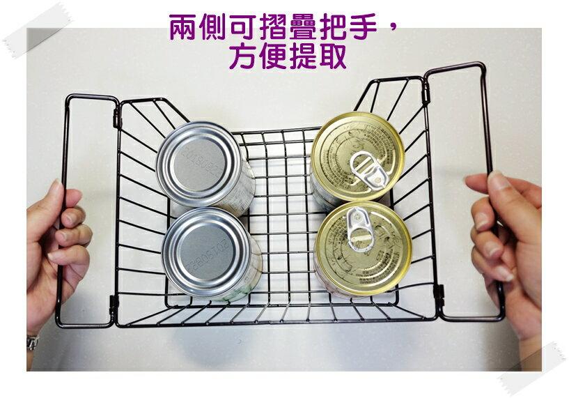 【凱樂絲】媽咪好幫手櫃子鐵線收納籃 (小型) - 自由DIY 空間利用 透氣通風, 客廳, 廚房, 衣櫃適用 2