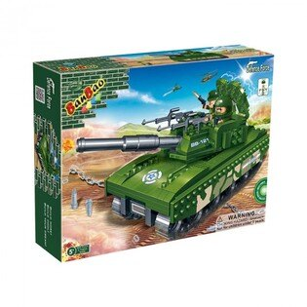 【BanBao 積木】國防系列-M1A1坦克 6206  (樂高通用) (滿2000元再送積木回力車一盒)