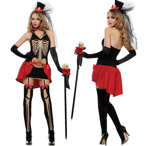 鬼新娘萬聖節亡靈節彩色骷髏惡魔服裝派對halloween舞台裝紗