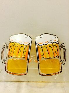X射線【W070003】造型眼鏡-啤酒杯,萬聖節/派對/尾牙/表演/角色扮演/面具/舞會/搞怪/蠟燭/春酒/道具/造型眼鏡/慶生/佈置