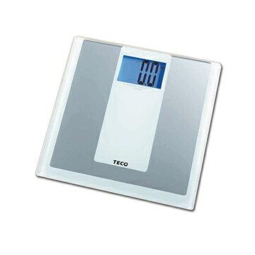 TECO 東元藍光電子體重計 XYFWT481 銀白/6MM強化玻璃,可承受180KG/另有其他款式XYFWT482/XYFWT486