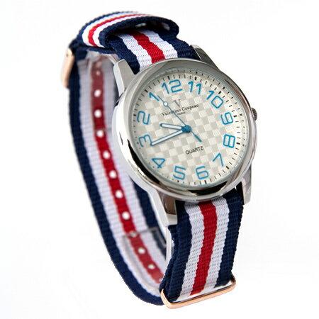 范倫鐵諾Valentino 獨特逆轉機芯帆布手錶對錶腕錶 中性款男女皆可 柒彩年代【NE1821】單支 - 限時優惠好康折扣
