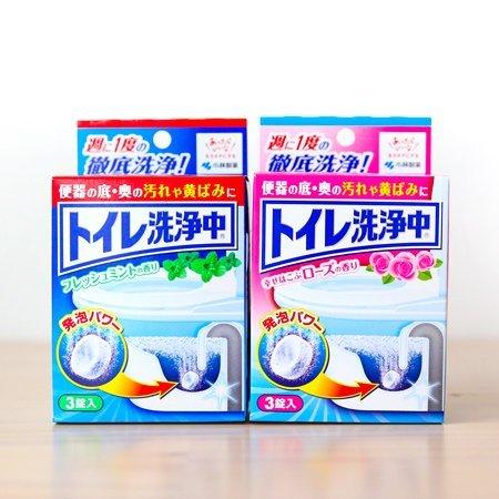 日本小林製藥 馬桶清潔錠 3錠入 薄荷/玫瑰 香氛 除臭 排水管 清潔發泡錠 廁所清潔